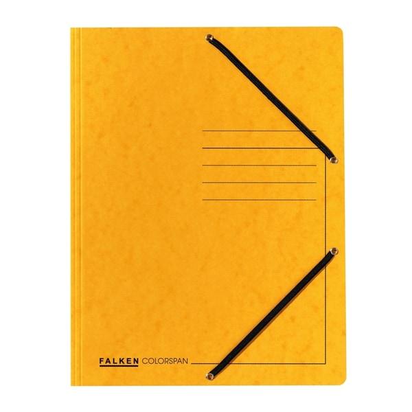 Dosar plic cu elastic FALKEN, A4, carton, galben