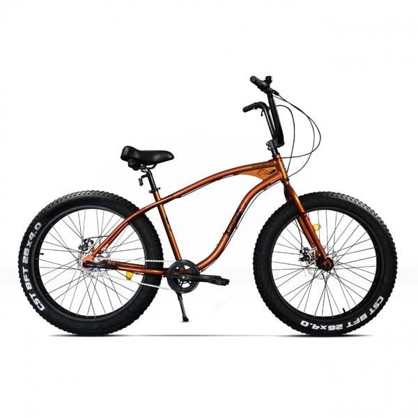 Bicicleta Fat Bike PEGAS Cutezator Ev 3S, Potocaliu-Cupru