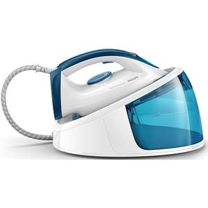 Statie de calcat PHILIPS FastCare Compact GC6722/20, 2400W, 300g/min, 1.5l, talpa ceramica, alb-albastru