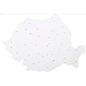 Sablon harta Romaniei FLARO, alb