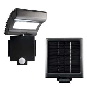 Proiector LED cu panou solar si senzor de miscare HOME FLP 6 SOLAR, 6W, 300 lumeni, negru