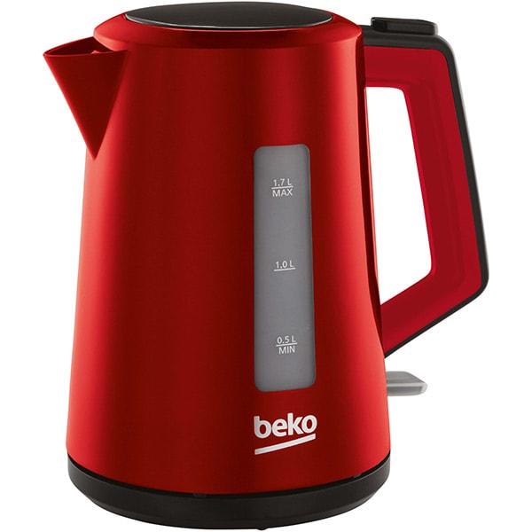Fierbator apa BEKO WKM4226R, 1.7l, 2200W, rosu-negru