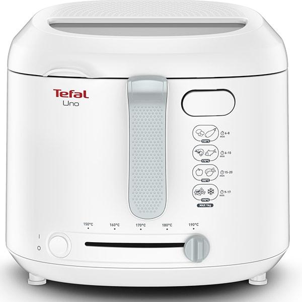 Friteuza TEFAL Uno FF203130, 1kg, 1.8l, 1600W, 150-190 grade, alb-gri