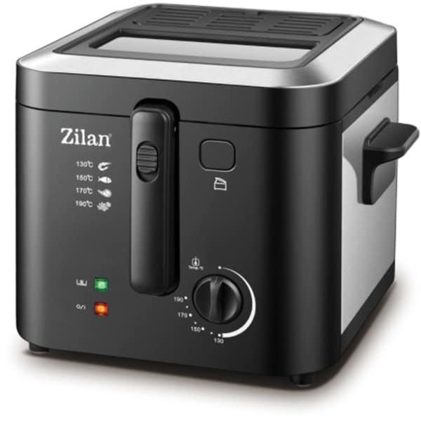 Friteuza ZILAN ZLN0010, 1kg, 2.5l, 1600W, argintiu-negru