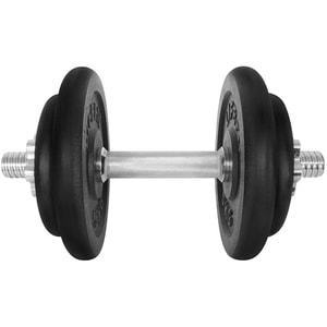 Gantera DHS 529FCIN173, 17 kg, 6 discuri, negru-argintiu