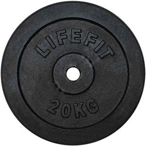 Disc otel DHS 529FKOT3020, 20 kg, negru