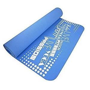 Covoras gimnastica DHS Slimfit, 173 x 58 x 0.6 cm, albastru