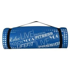 Covoras yoga DHS Exclusive, 180 x 60 x 1.5 cm, albastru