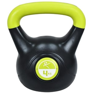 Gantera Kettlebell DHS 529FVINKETT04, 4 kg, negru-verde