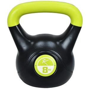 Gantera Kettlebell DHS 529FVINKETT08, 8 kg, negru-verde