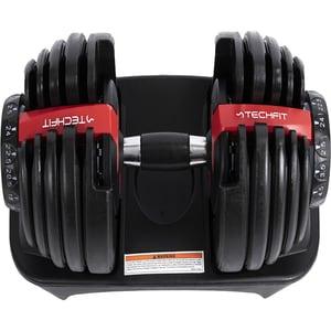 Gantera reglabila TECHFIT TD001AD24, 2.5-24kg, negru