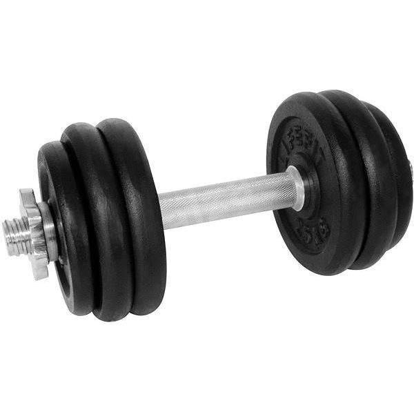 Gantera DHS 529FCIN153, 15 kg, 6 discuri, negru-argintiu