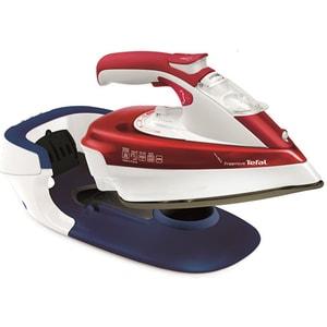 Fier de calcat TEFAL Freemove FV9976E0, 2600W, 200g/min, 250ml, talpa Durilium AirGlide, rosu-albastru inchis