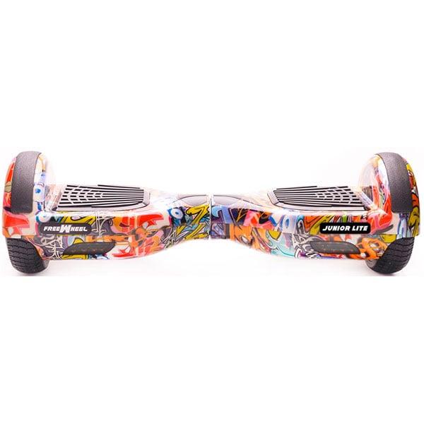 Hoverboard FREEWHEEL Junior Lite, 6.5 inch, viteza 12 km/h, motor 2 x 200W Brushless, graffiti albastru