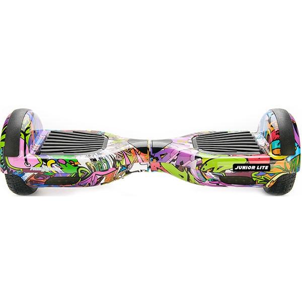 Hoverboard FREEWHEEL Junior Lite, 6.5 inch, viteza 12 km/h, motor 2 x 200W Brushless, graffiti mov