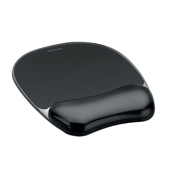 Mouse Pad FELLOWES Crystal FWS0021, negru
