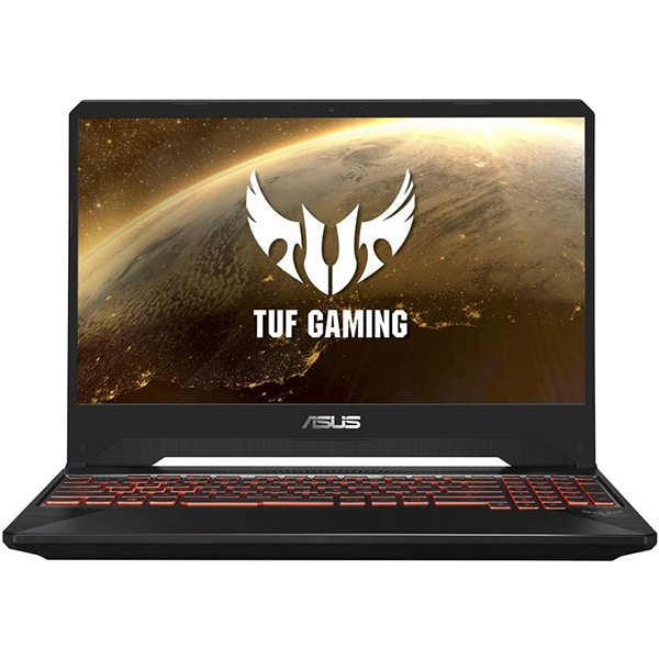 "Laptop Gaming ASUS TUF FX505DY-BQ001, AMD Ryzen 5-3550H pana la 3.7GHz, 15.6"" Full HD, 8GB, HDD 1TB + SSD 128GB, AMD Radeon RX 560X 4GB, Free Dos, Red Matter"