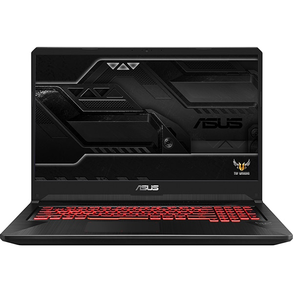 "Laptop Gaming ASUS TUF FX705GM-EW019, Intel® Core™ i7-8750H pana la 4.1GHz, 17.3"" Full HD, 8GB, HDD 1TB + SSD 128GB, NVIDIA GeForce GTX 1060 6GB, Free Dos, Negru"