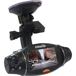 Camera auto DVR Dual SMAILO STREETVIEW, 2.7 inch, G-senzor, GPS, negru