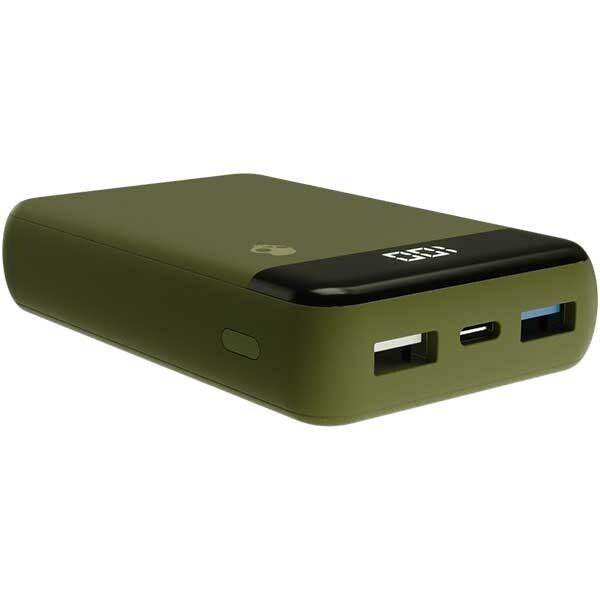 Baterie externa SKULLCANDY Fat Stash Moss S7PFZ-M726, 10000mAh, 2xUSB, 1xType C, verde