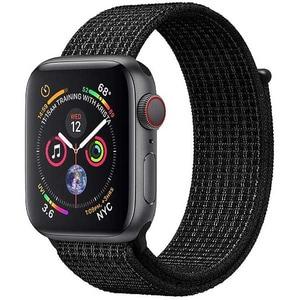 Bratara pentru Apple Watch 42mm/44mm, PROMATE Fibro-42, nylon, negru