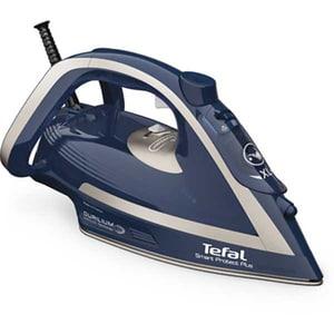 Fier de calcat TEFAL Smart Protect Plus FV6872E0, 2800W, 260g/min, 270ml, talpa Durilium AirGlide, albastru-gri