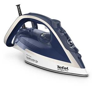 Fier de calcat TEFAL UltraGliss Plus FV6812E0, 2800W, 260g/min, 270ml, talpa Durilium AirGlide, albastru-alb
