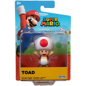 Figurina JAKKS PACIFIC World Of Nintendo Super Mario 404584-40549I, 6 ani+, alb-rosu
