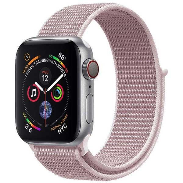 Bratara pentru Apple Watch 38mm/40mm, PROMATE Fibro-38, nylon, roz deschis