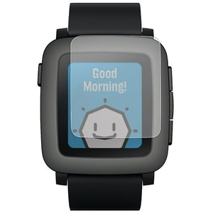 Folie protectie pentru Pebble Time, SMART PROTECTION, display, 2 folii incluse, polimer, transparent
