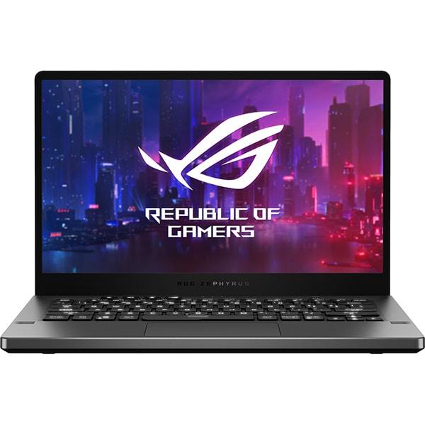 "Laptop Gaming ASUS ROG Zephyrus G14 GA401IV-HE012, AMD Ryzen 9 4900HS pana la 4.3GHz, 14"" Full HD, 32GB, SSD 1TB, NVIDIA GeForce RTX 2060 Max-Q 6GB, Free DOS, gri inchis"
