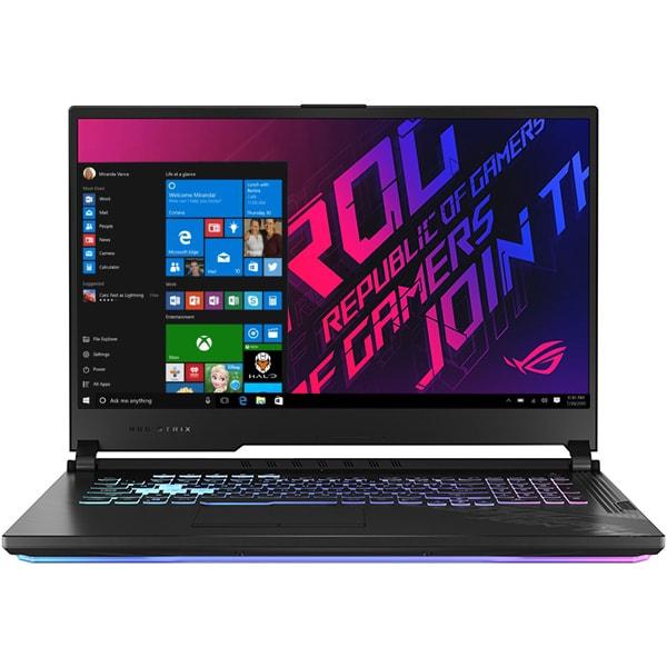 "Laptop Gaming ASUS ROG Strix G17 G712LW-EV002T, Intel Core i7-10750H pana la 5.0GHz, 17.3"" Full HD, 16GB, SSD 1TB, NVIDIAGeForceRTX 2070 8GB, Windows 10 Home, negru"