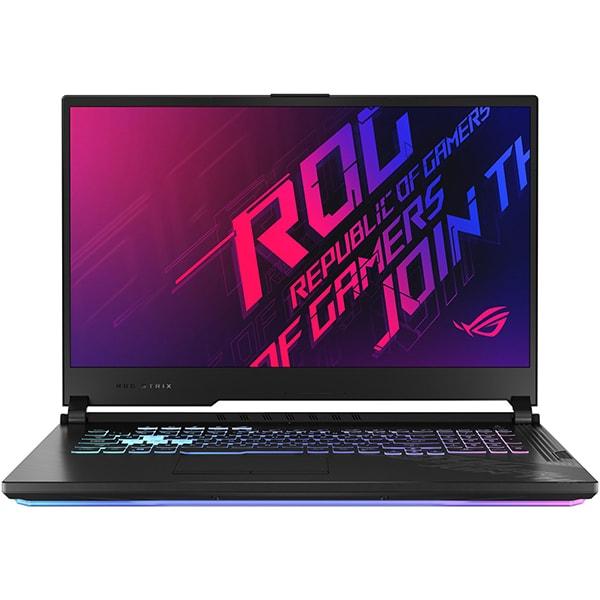 "Laptop Gaming ASUS ROG Strix G17 G712LU-EV001, Intel Core i7-10750H pana la 5.0GHz, 17.3"" Full HD, 8GB, SSD 512GB, NVIDIAGeForceGTX1660Ti 6GB, Free DOS, negru"