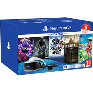 PlayStation VR Mega Pack 2 + Camera PS V2 + 5 jocuri