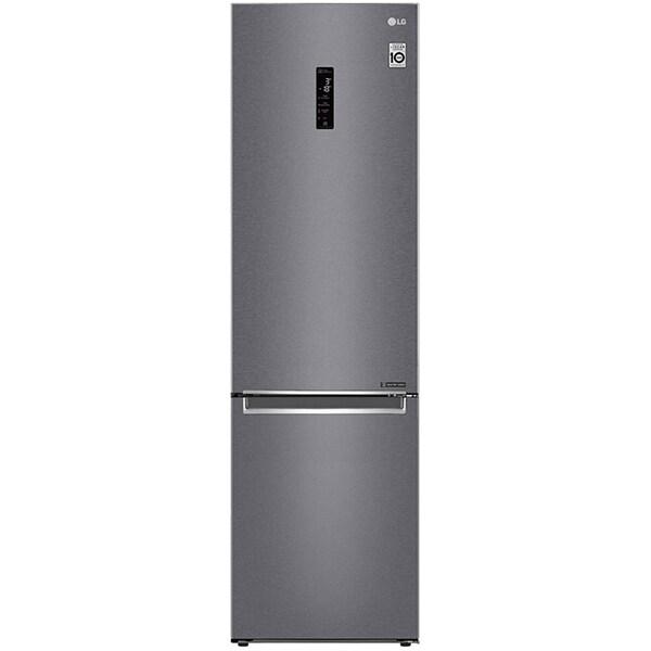 Combina frigorifica LG GBB62DSHZN, No Frost, 384 l, H 203 cm, Clasa A++, Wi-Fi, gri