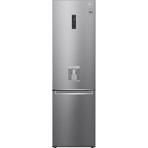 Combina frigorifica LG GBF62PZHMN, No Frost, 383 l, H 203 cm, Clasa E, dozator apa, argintiu