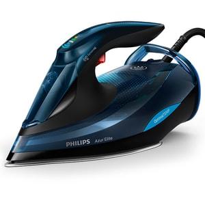 Fier de calcat PHILIPS Azur Elite GC5034/20, 3000W, 260g/min, 350ml, talpa SteamGlide Plus, albastru-negru
