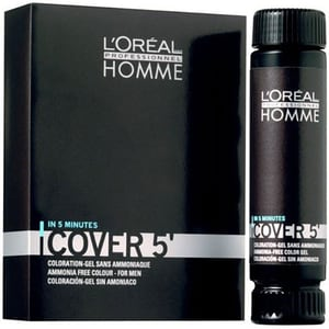 Gel colorant L'OREAL Professionnel Homme Cover, 5 - 4 Brown, 3 bucati, 50ml