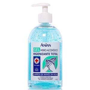 Gel hidroalcoolic pentru maini cu aloe vera ANIAN, 70% alcool etilic, 500ml
