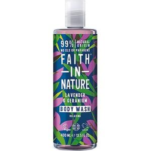 Gel de dus FAITH IN NATURE Lavender&Geranium, 400ml