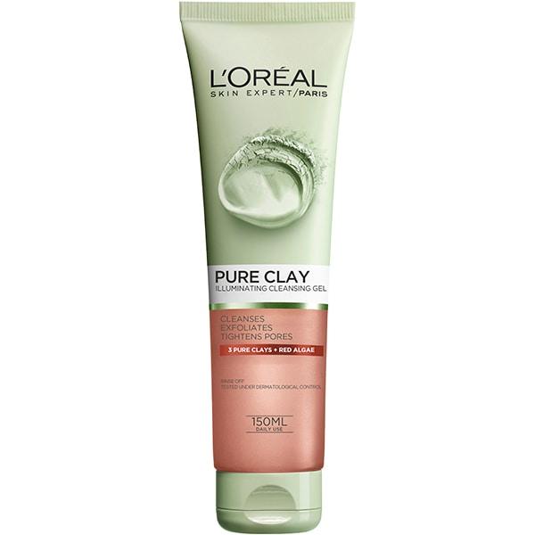 Gel de curatare exfoliant L'OREAL PARIS Pure Clay, 150ml