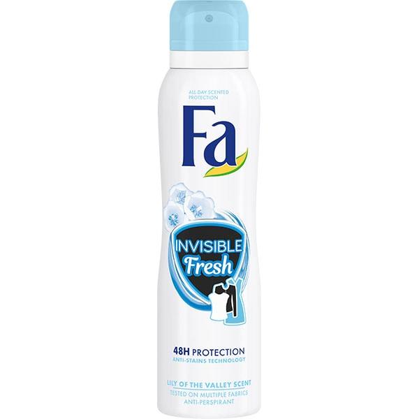 Deodorant spray antiperspirant FA Invizibile Fresh, 150ml