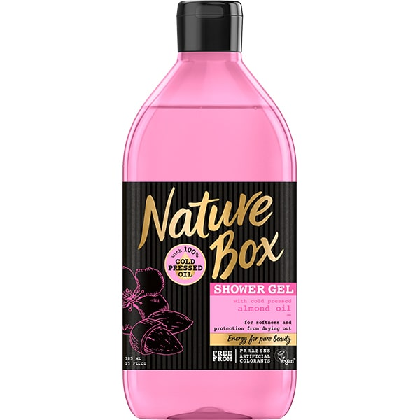 Gel de dus NATURE BOX Migdala, 385ml