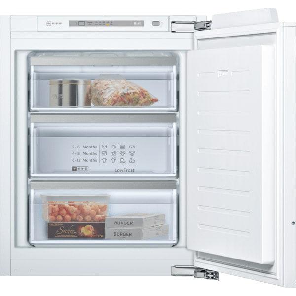 Congelator incorporabil NEFF GI1113FE0, 72 l, H 71.2 cm, Clasa E, alb