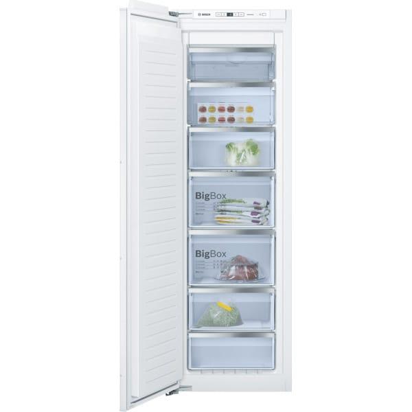 Congelator incorporabil BOSCH GIN81AEF0, No Frost, 212 l, H 177.2 cm, Clasa F, alb