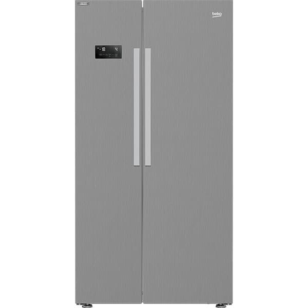 Side by Side BEKO GNE64021XB, NeoFrost, 580 l, H 179 cm, Clasa F, argintiu
