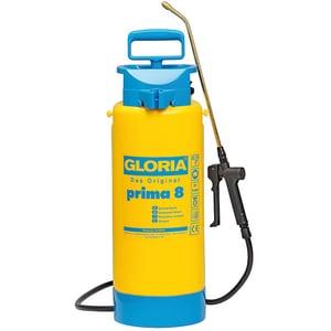 Pompa de stropit GLORIA Prima 8, 8L, 3 bar, lance din alama, duza reglabila, garnituri NBR, galben