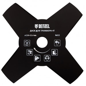 Disc trimmer DENZEL 963237, 230 x 25.4 mm, grosime 1.6 mm, 4 lame, otel