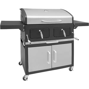 Gratar pe carbuni GRILL CHEF 11518, metal, 84 x 45 cm, negru-argintiu