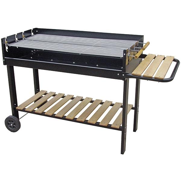 Gratar pe carbuni GRILL CHEF 11475, metal, 2 parti, 98 x 45 cm, negru